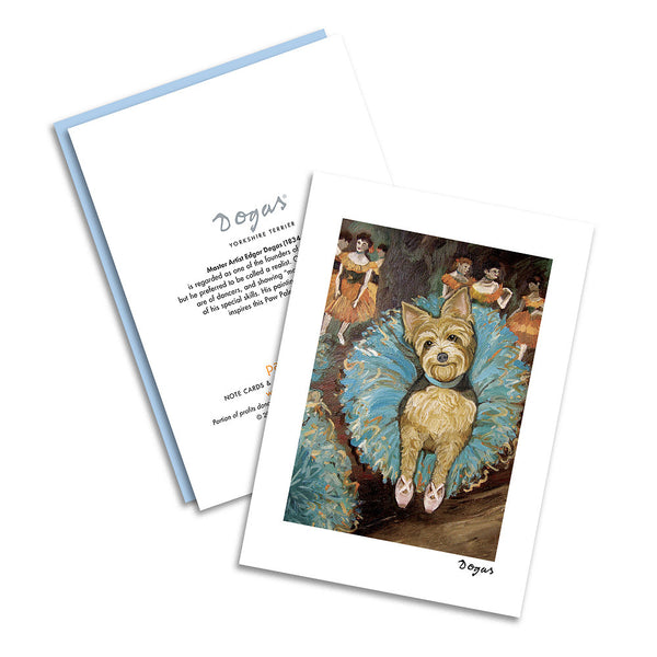 Yorkshire Terrier Dogas Notecard Set