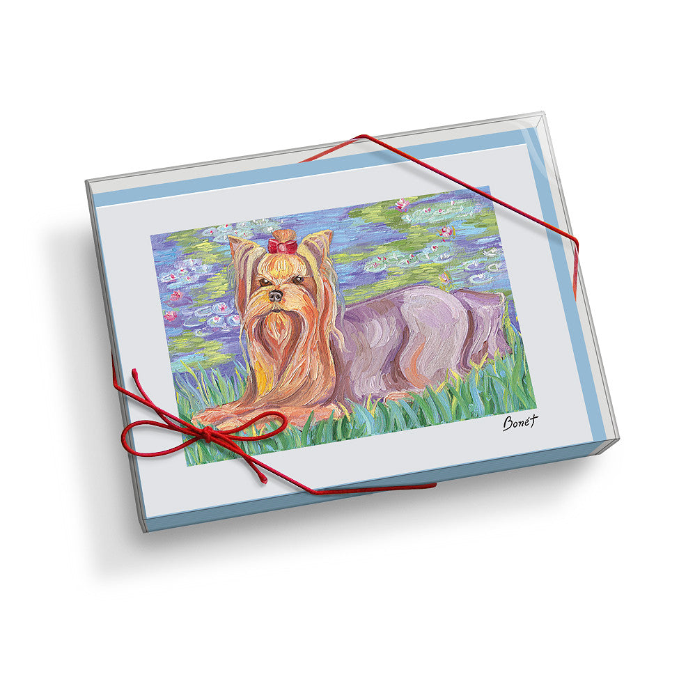 Yorkshire Terrier Bonét Notecard Set