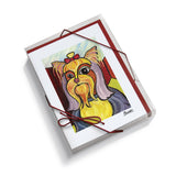 Yorkshire Terrier Pawcasso Notecard Set