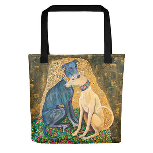 Greyhound Tote Bag - Art Inspired by Gustav Klimt