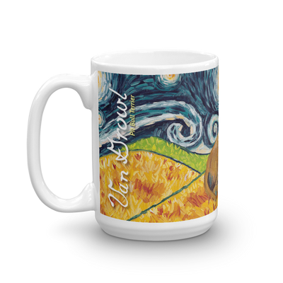 Pit Bull Terrier (tan) STARRY NIGHT Mug-15oz