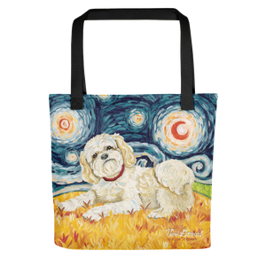 Shih Tzu (cream) STARRY NIGHT Tote