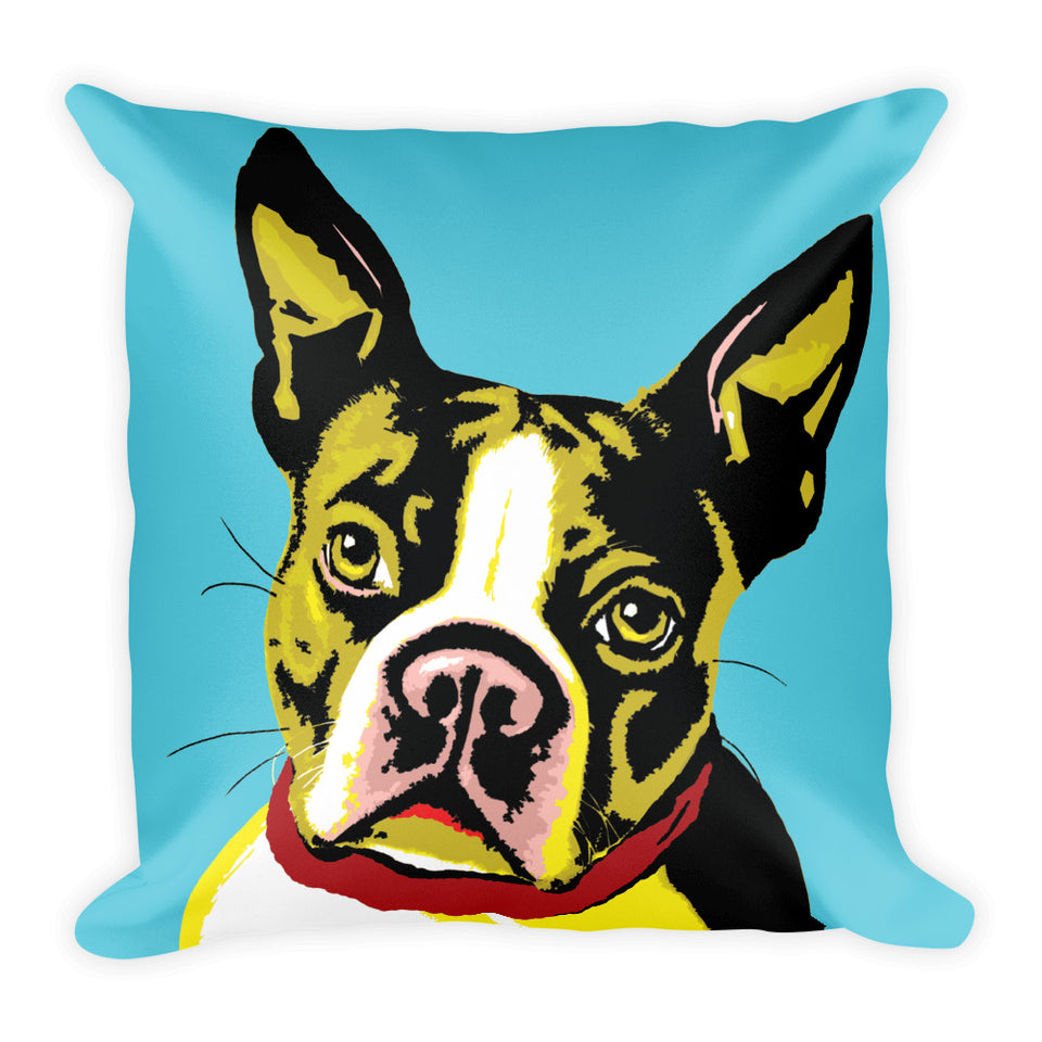 Boston Terrier WOOFHOL Pillow