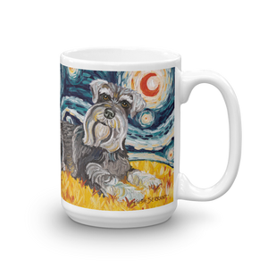 Schnauzer STARRY NIGHT Mug-15oz