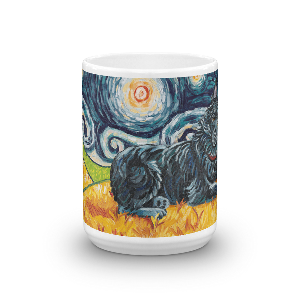Schipperke (no tail) STARRY NIGHT Mug-15oz