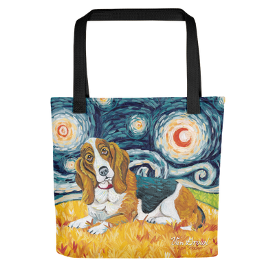 Basset Hound STARRY NIGHT Tote
