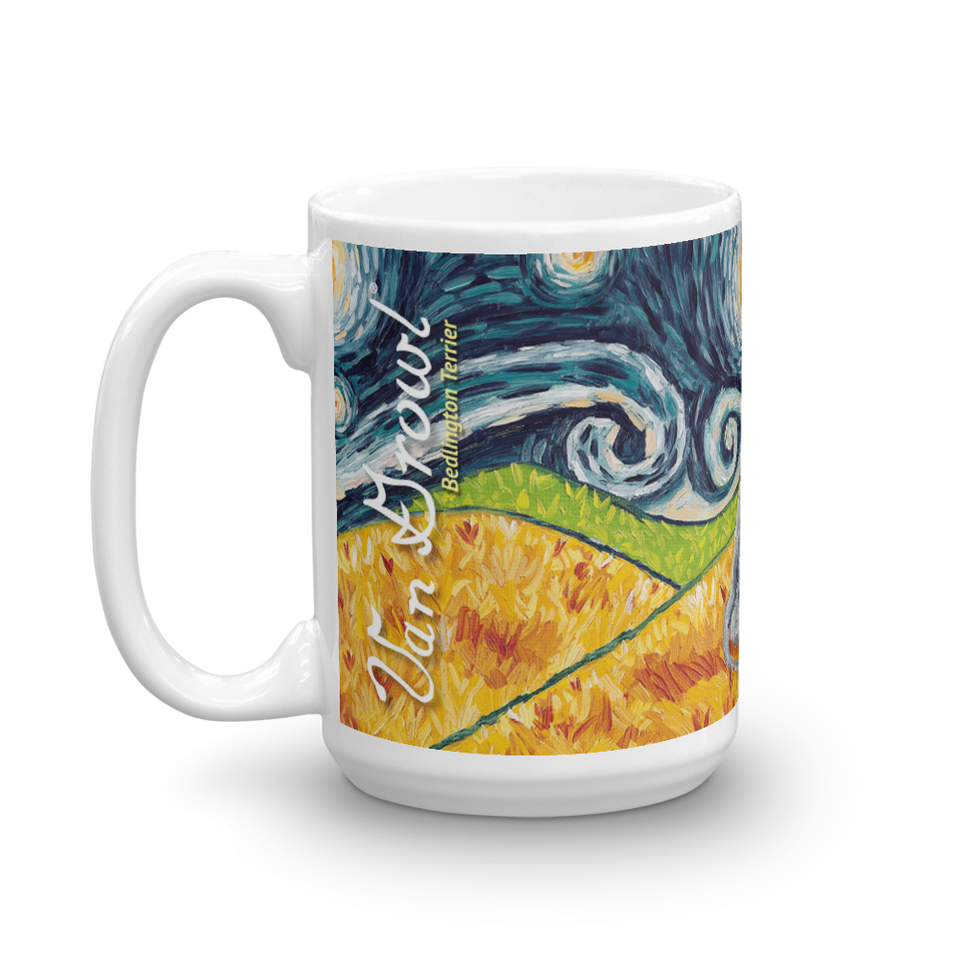 Bedlington Terrier STARRY NIGHT Mug-15oz
