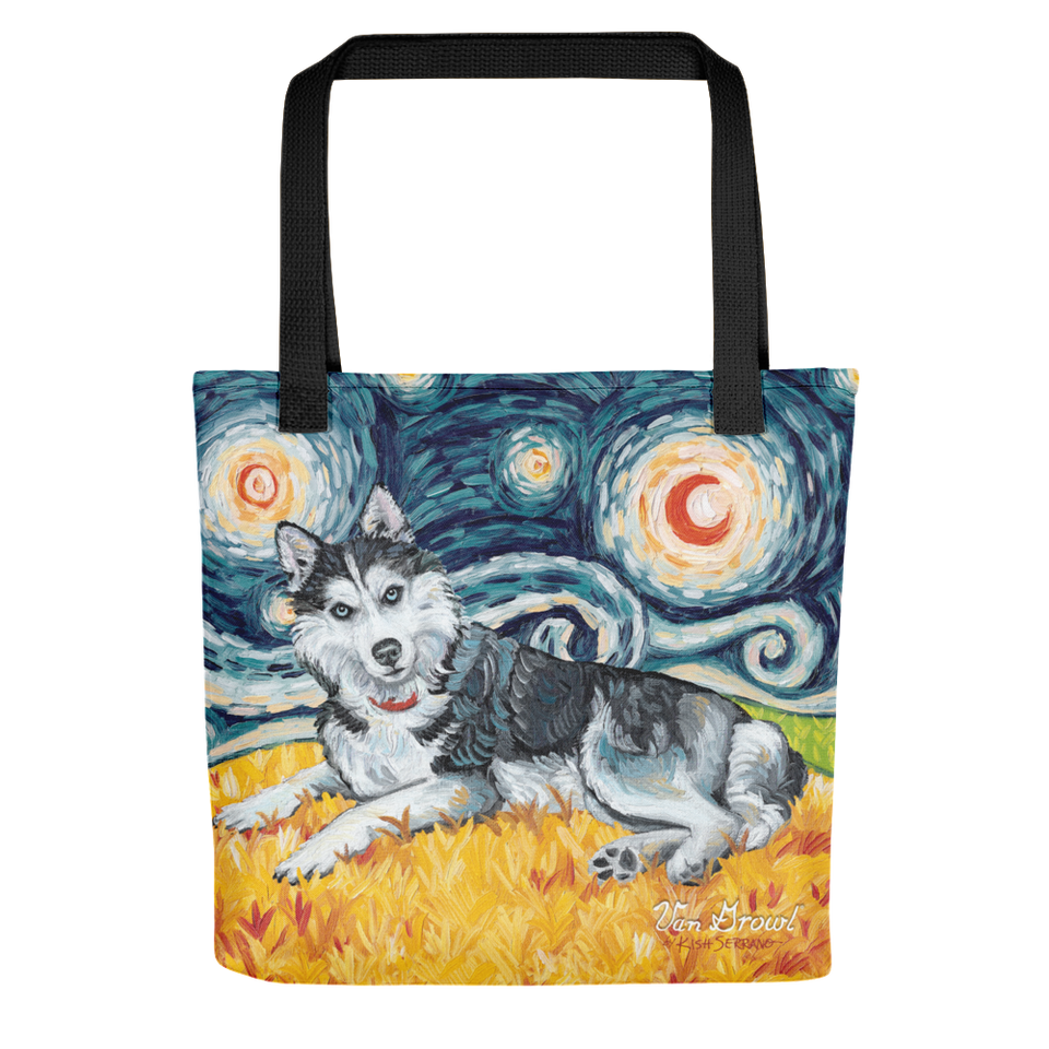 Siberian Husky STARRY NIGHT Tote