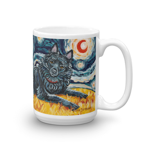 Schipperke (tail) STARRY NIGHT Mug-15oz