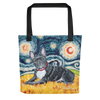 French Bulldog STARRY NIGHT Tote