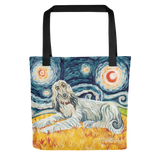 Afghan Hound (light) STARRY NIGHT Tote