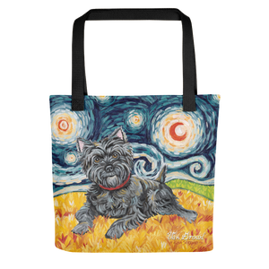 Cairn Terrier (dark) STARRY NIGHT Tote