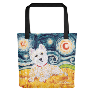 Westie STARRY NIGHT Tote