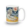 Afghan Hound (light) STARRY NIGHT Mug-15oz