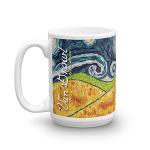 Labrador Retriever (chocolate) STARRY NIGHT Mug-15oz