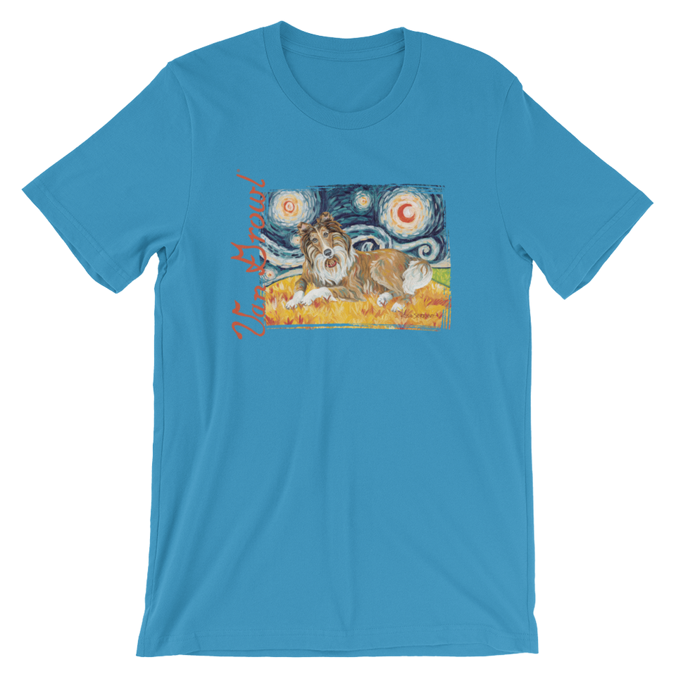 Collie (white stripe) STARRY NIGHT T-Shirt
