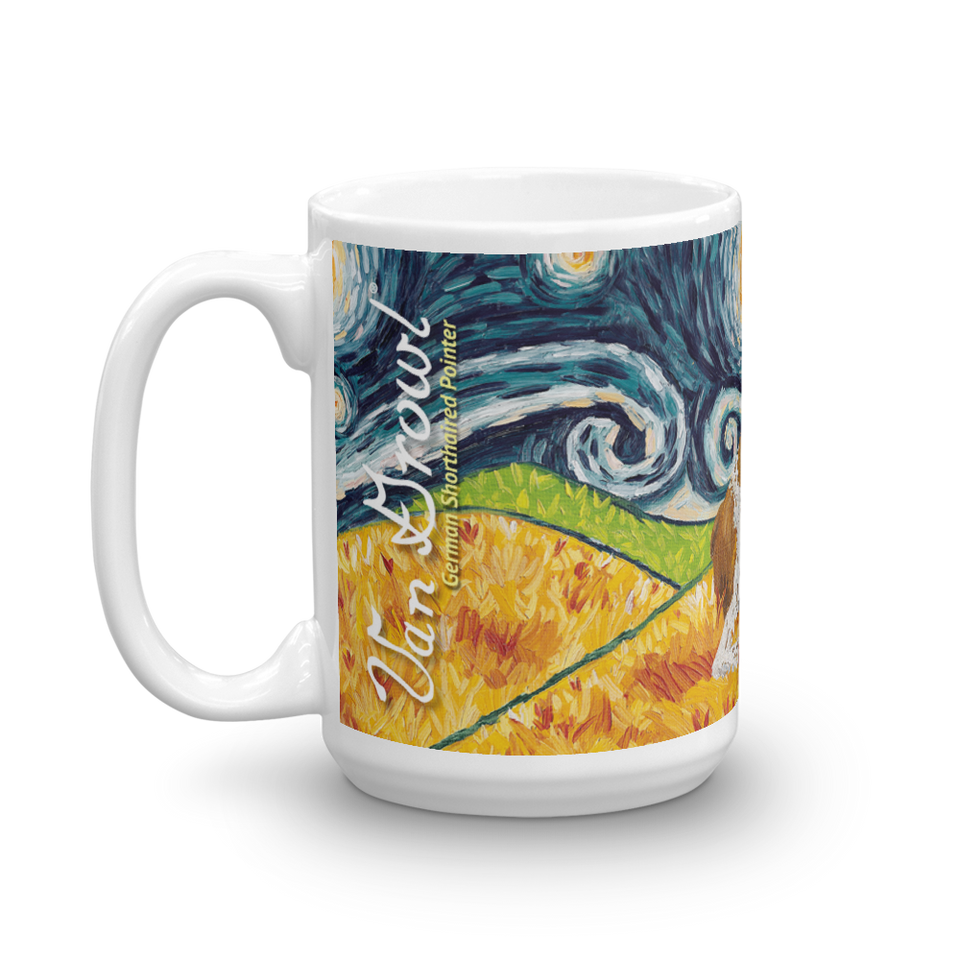 German Shorthaired Pointer STARRY NIGHT Mug-15oz