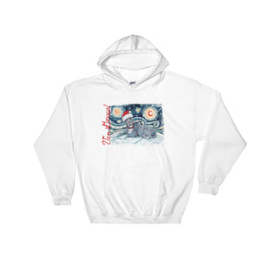 American Staffordshire Terrier (Grey) Snowy Night Hoodie