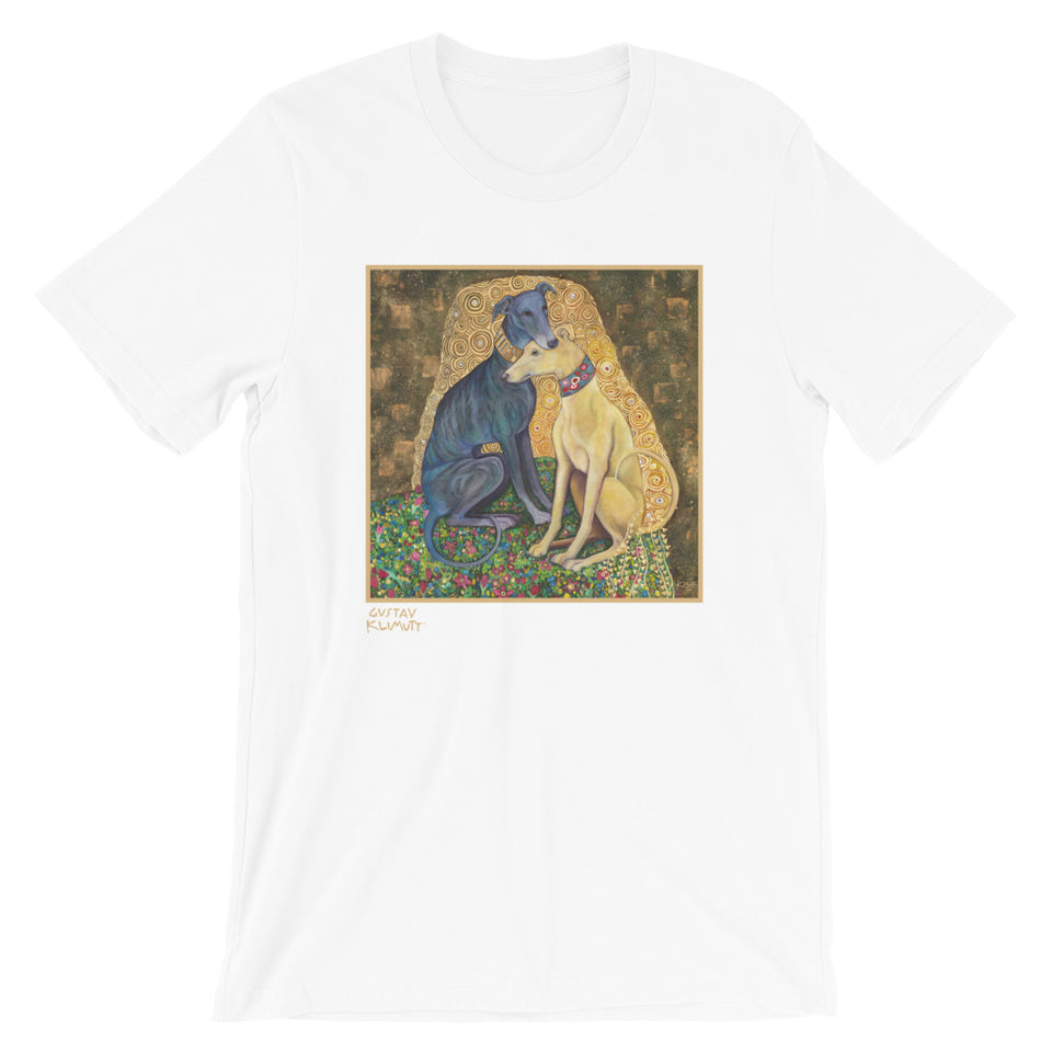 GREYHOUND Art T-Shirt inspired by Klimt