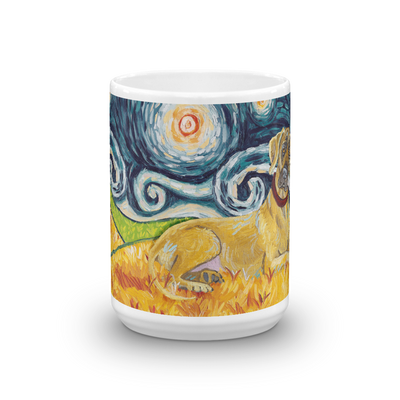 Great Dane (uncropped) STARRY NIGHT Mug-15oz