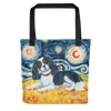 Cavalier King Charles (tricolor) STARRY NIGHT Tote