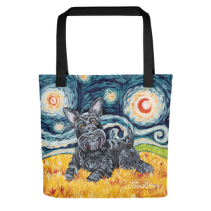 Scottish Terrier STARRY NIGHT Tote