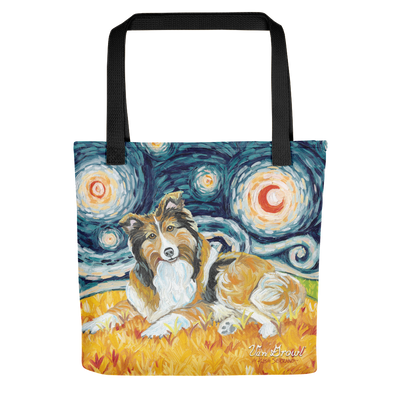 Shetland Sheepdog STARRY NIGHT Tote