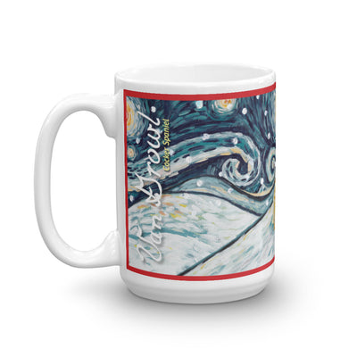 Cocker Spaniel Snowy Night Mug - 15oz