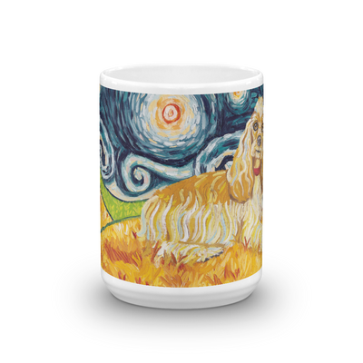 Cocker Spaniel STARRY NIGHT Mug-15oz
