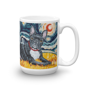 French Bulldog STARRY NIGHT Mug-15oz