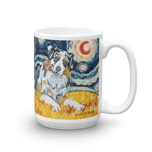 Australian Shepherd STARRY NIGHT Mug-15oz
