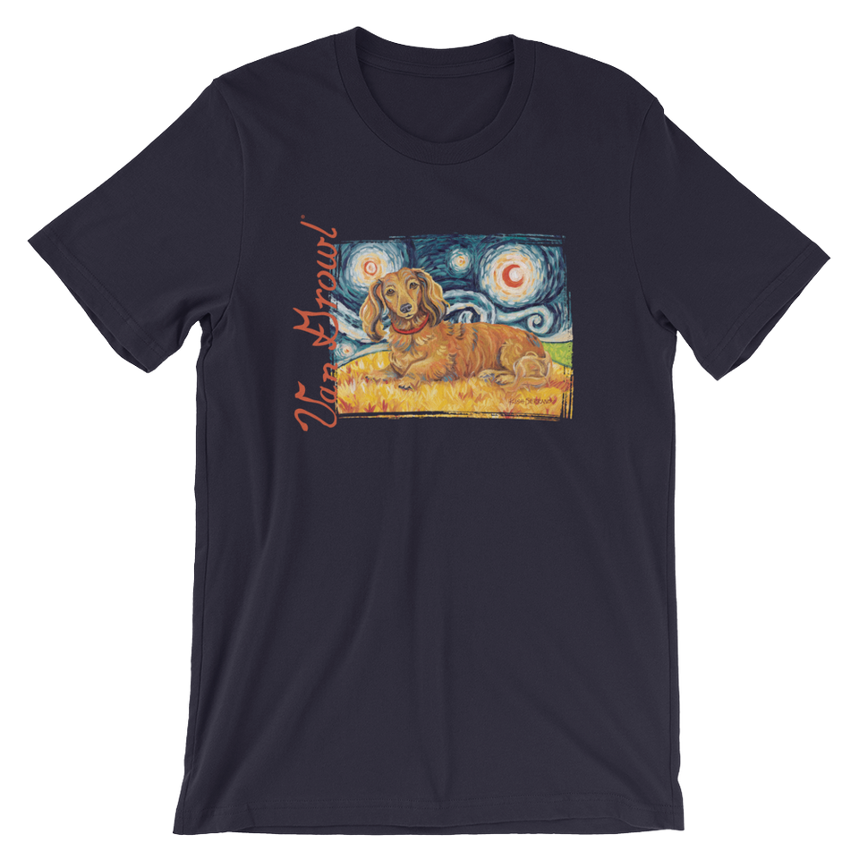 Dachshund (long haired red) STARRY NIGHT T-Shirt