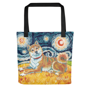 Shiba Inu (cream) STARRY NIGHT Tote