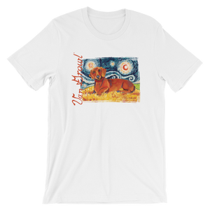 Dachshund (red) STARRY NIGHT T-Shirt