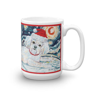 Bichon Snowy Night Mug - 15oz