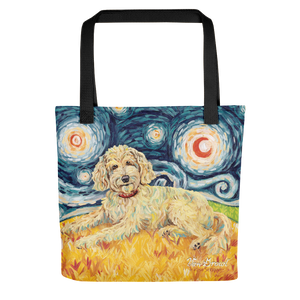 Doodle (golden) STARRY NIGHT Tote
