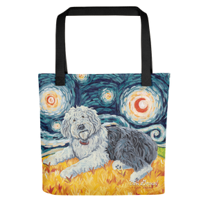 Old English Sheepdog STARRY NIGHT Tote