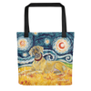 Great Dane (uncropped) STARRY NIGHT Tote