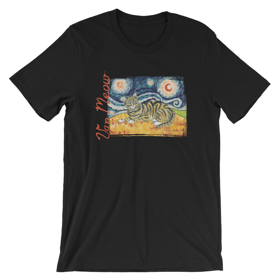 Tabby Cat (shorthaired) STARRY NIGHT T-Shirt