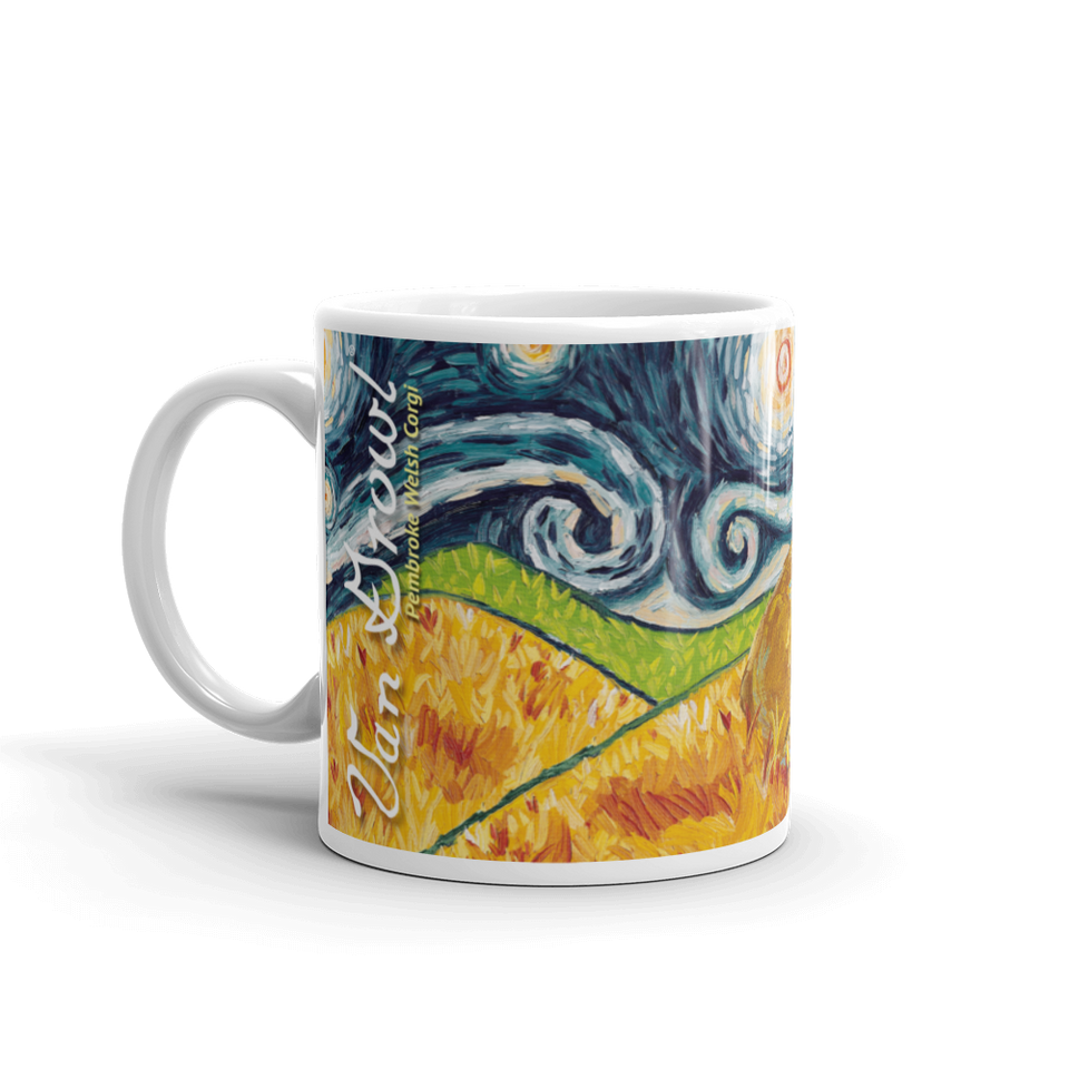 Corgi (Pembroke Welsh) STARRY NIGHT Mug-15oz
