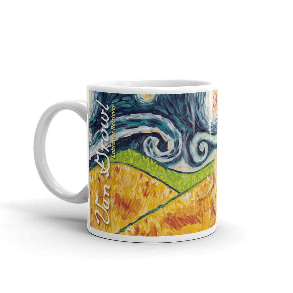 Labrador Retriever (yellow) STARRY NIGHT Mug-15oz