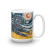 Doodle (black) STARRY NIGHT Mug-15oz