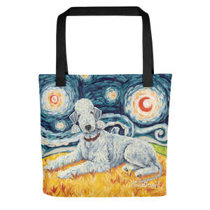 Bedlington Terrier STARRY NIGHT Tote