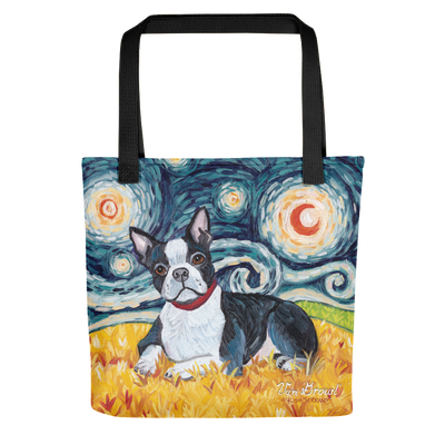 Boston Terrier STARRY NIGHT Tote