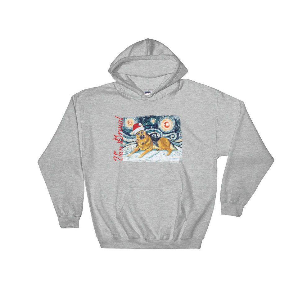 German Shepherd Snowy Night Hoodie