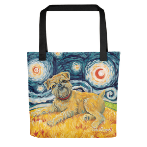 Brussels Griffon STARRY NIGHT Tote