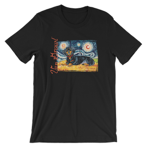 Dachshund (black & tan) STARRY NIGHT T-Shirt
