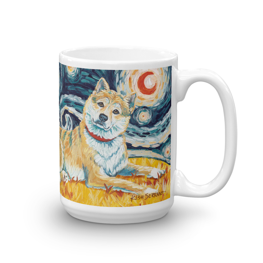 Shiba Inu (cream) STARRY NIGHT Mug-15oz