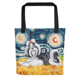 Shih Tzu (black & white) STARRY NIGHT Tote
