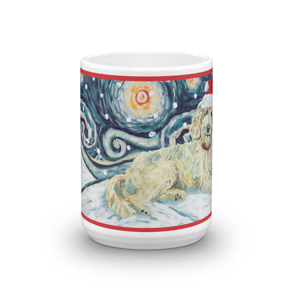 Doodle (Cream) Snowy Night Mug - 150oz